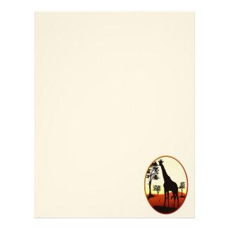 Giraffe Oval Letterheads Letterhead Template