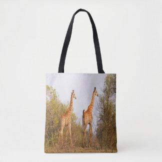 Giraffe Pair Tote Bag