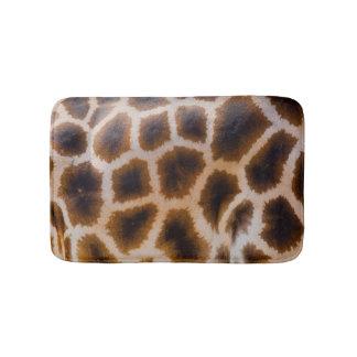 Giraffe Patches Spotted Skin Texture Template Bath Mat