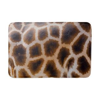 Giraffe Patches Spotted Skin Texture Template Bathroom Mat