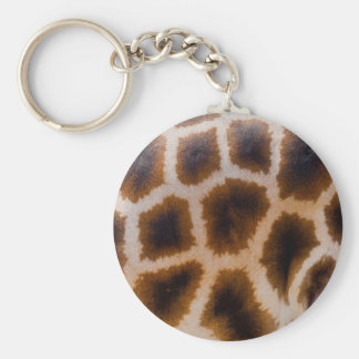 Giraffe Patches Spotted Skin Texture Template Keychain
