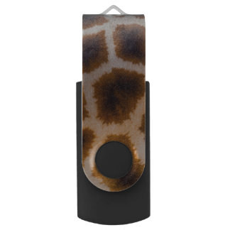 Giraffe Patches Spotted Skin Texture Template Swivel USB 2.0 Flash Drive