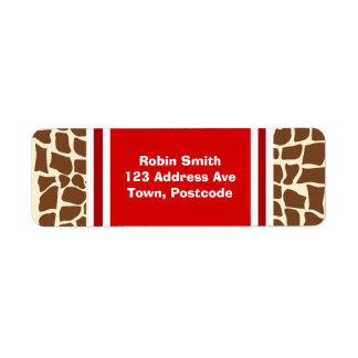 Giraffe pattern animal print