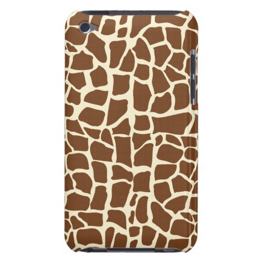 Giraffe pattern animal print iPod touch cases