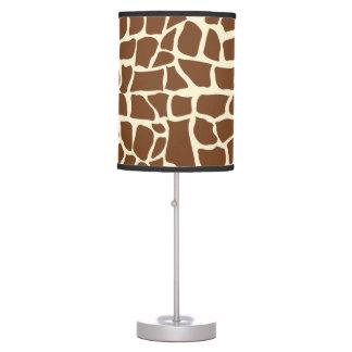 Giraffe pattern animal print table lamp