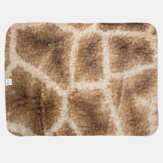 Giraffe pattern baby blanket
