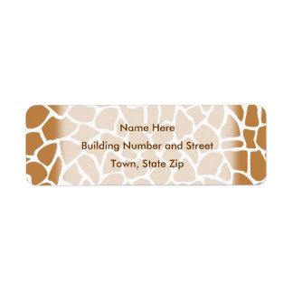 Giraffe Pattern Brown Animal Print Design.
