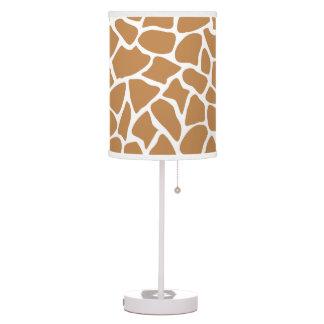 Giraffe Pattern Brown Animal Print Design. Table Lamp