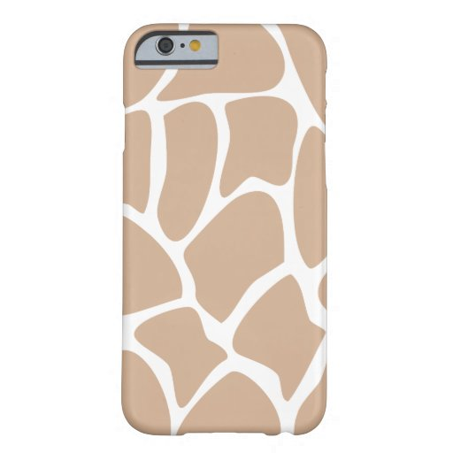 Giraffe Pattern in Beige. iPhone 6 Case