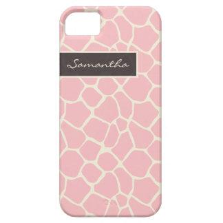 Giraffe Pattern iPhone 5 Case-Mate Case (pink)