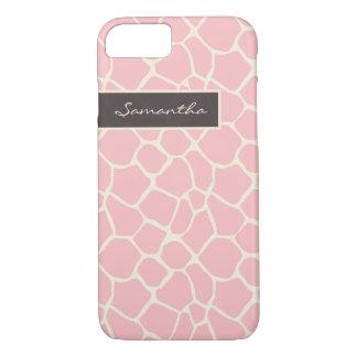 Giraffe Pattern iPhone 7 Case (pink)