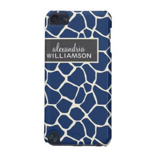 Giraffe Pattern iPod Touch Case (navy blue)