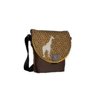 Giraffe Pattern Messenger Bag