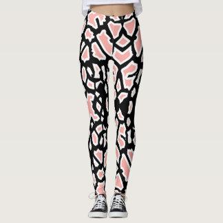 Giraffe Pattern Pink Black White Legging
