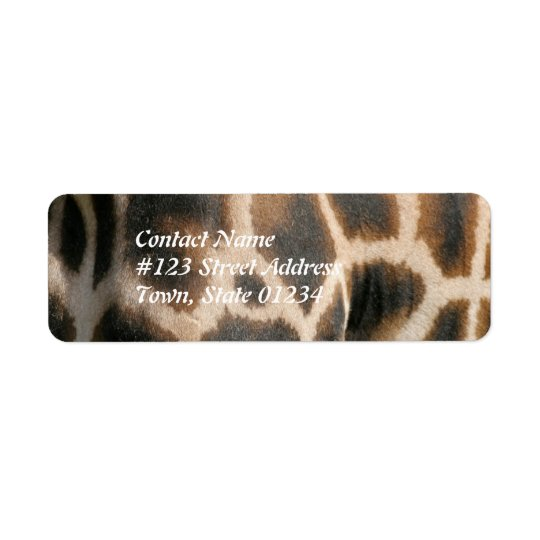 Giraffe Pattern Print Mailing Label Return Address Label