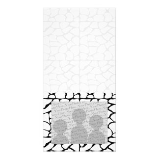 Giraffe Pattern. White and Black. Personalized Photo Card