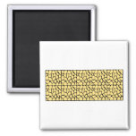 Giraffe Pattern. Yellow & Black. Fridge Magnets
