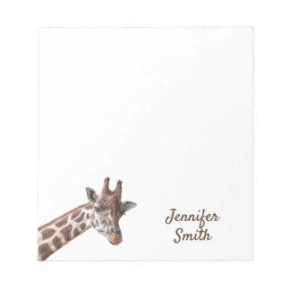 Giraffe Personalized Name Notepad