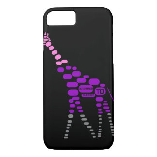 Giraffe Phone Case reads 'Determined To Succeed'