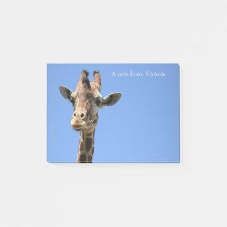 Giraffe Photo Wildlife Nature Name Post-It Notes
