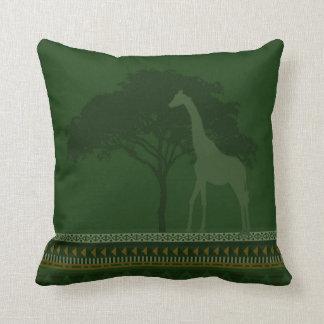 giraffe pillow green