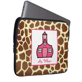Giraffe & Pink Electronics Bag For Teachers