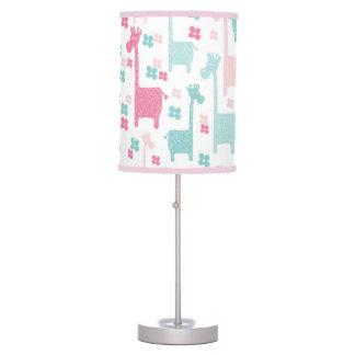 Giraffe Pink Mint Aqua Teal Lamp