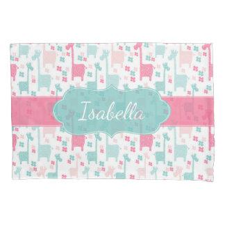 Giraffe Pink Mint Aqua Teal Pillowcase