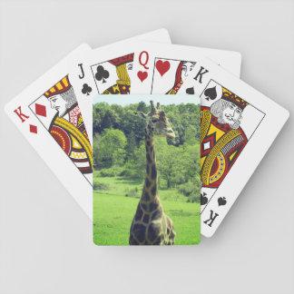 Giraffe Playing Cards