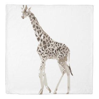 Giraffe polygon art illustration duvet cover