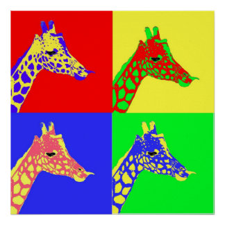 Giraffe Pop Art Poster