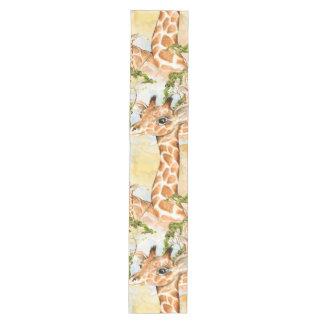 Giraffe Portrait Animal Picture Medium Table Runner