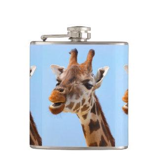 Giraffe Portrait custom flask