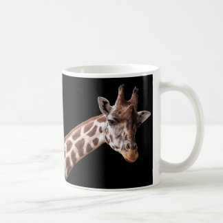 Giraffe Portrait on Black - Mug