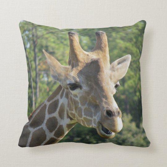 Giraffe Portrait Throw Pillow