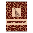 Giraffe Print Birthday Deluxe Card