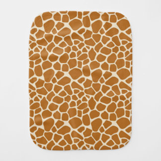 Giraffe Print Burp Cloth