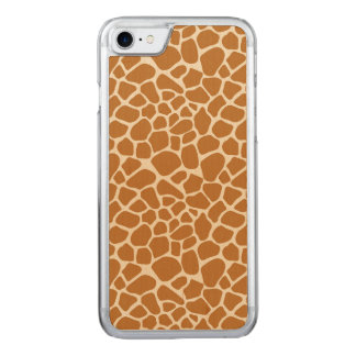 Giraffe Print Carved iPhone 8/7 Case