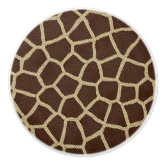 Giraffe Print Ceramic Knob