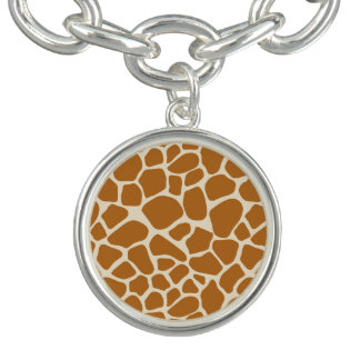Giraffe Print Charm Bracelet
