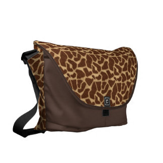 Giraffe Print Courier Bag