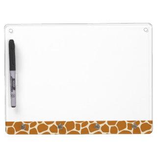 Giraffe Print Dry Erase Board