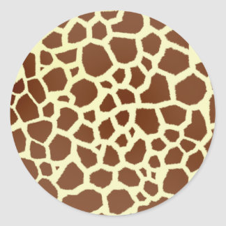 Giraffe Print Envelope Seal Round Sticker