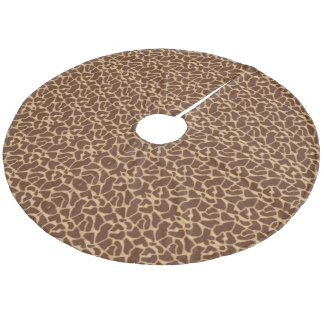 Giraffe Print Fleece Tree Skirt