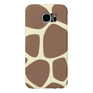 Giraffe Print, Giraffe Pattern - Brown Yellow Samsung Galaxy S6 Cases