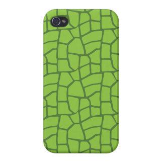 Giraffe Print in Green iPhone 4 Covers
