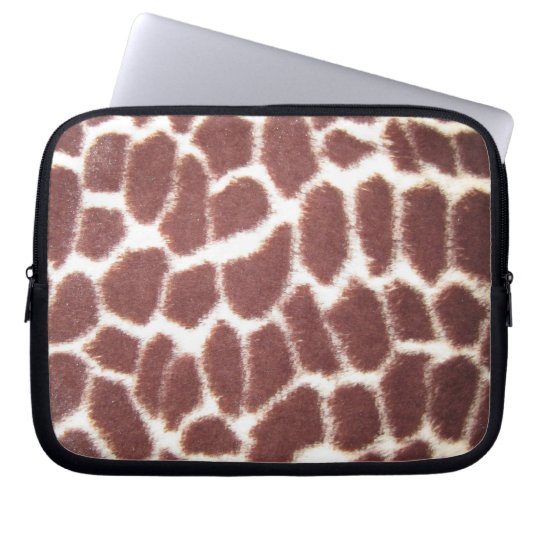 Giraffe Print Laptop Sleeve