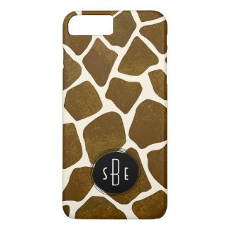 Giraffe Print Monogram iPhone 7 Plus Case