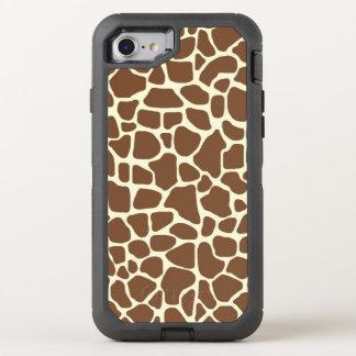 Giraffe print OtterBox defender iPhone 8/7 case