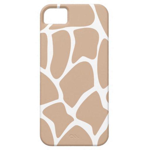 Giraffe Print Pattern in Beige. iPhone 5 Case